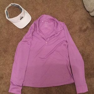 ADIDAS golf top and hat. Climacool